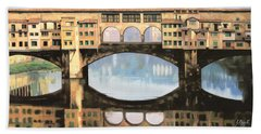 Ponte Vecchio A Firenze Beach Towel