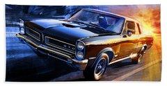 1965 Pontiac Tempest Gto Sunset Beach Towel