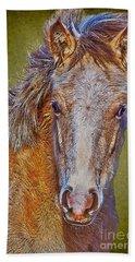 Pony Portrait  Beach Sheet