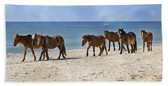 Pony Procession  Beach Towel
