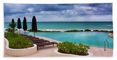 Pool At Rosewood Mayakoba Beach Sheet by Teresa Zieba