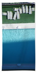 Poolside Upside Beach Towel by Brian Boyle