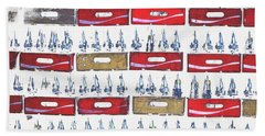 Pop Art Coke Cases Beach Towel by Tom Wurl