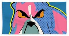 Pop Art Dog  Beach Towel