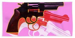 Pop Handgun Beach Towel
