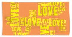 Pop Love 3 Beach Towel