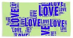 Pop Love 5 Beach Towel