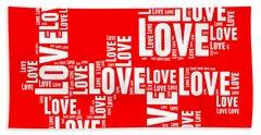 Pop Love 6 Beach Towel