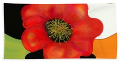 Pop Poppy Beach Towel by Christine Fournier