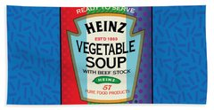 Pop Vegetable Soup Beach Towel