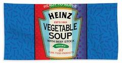 Pop Vegetable Soup Beach Sheet