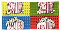 Popcorn Pop Art-jp2375 Beach Sheet