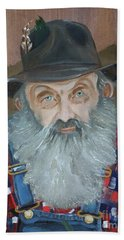 Popcorn Sutton - Moonshiner - Portrait Beach Sheet