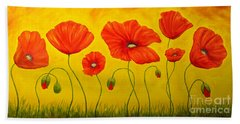 Poppies At The Time Of Beach Towel