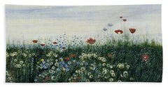 Poppies, Daisies And Other Flowers Beach Towel