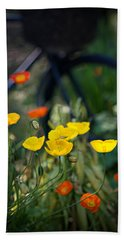 Beach Towel featuring the photograph Poppies by Doug Gibbons