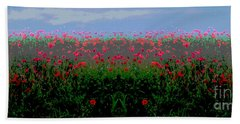 Poppies Field Beach Towel