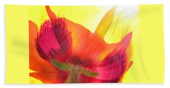 Poppies Gone Wild 2 Beach Towel