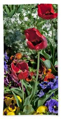 Beach Towel featuring the photograph Poppies by Mae Wertz