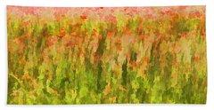 Poppies Of Tuscany IIi Beach Sheet