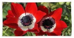 Beach Sheet featuring the photograph Poppy Anemones by George Atsametakis