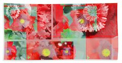 Poppy Collage Beach Sheet by Barbara Moignard