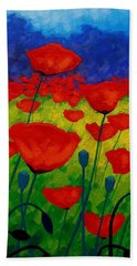 Poppy Corner II Beach Towel