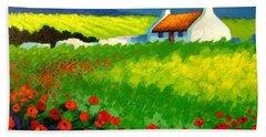 Poppy Field - Ireland Beach Towel