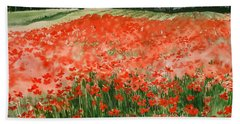 Poppy Field Beach Towel