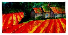 Poppy Field  Sold Beach Towel