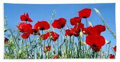 Beach Towel featuring the photograph Poppy Flowers by George Atsametakis