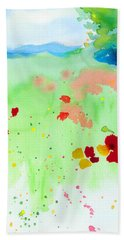Beach Towel featuring the painting Poppy Passion by C Sitton