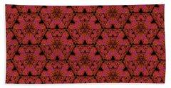 Poppy Sierpinski Triangle Fractal Beach Sheet