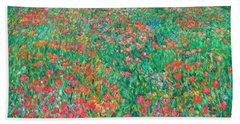 Poppy View Beach Towel