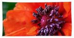 Poppy's Purple Passion Beach Towel by Bill Pevlor