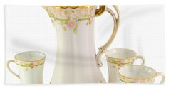 Porcelain Pitcher And Cups Beach Towel