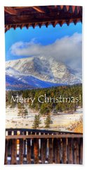 Porch View Christmas 4166 Beach Towel