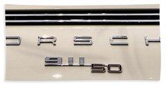 Porsche 50th Anniversary Rear Badge Beach Towel
