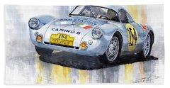 Porsche 550 Coupe 154 Carrera Panamericana 1953 Beach Towel