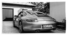 Porsche 911 Carrera 4s Beach Towel