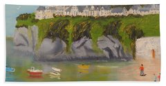 Beach Towel featuring the painting Port Asaac Cornwell by Pamela  Meredith
