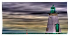 Port Dalhousie Lighthouse Beach Sheet by Jerry Fornarotto