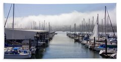 Beach Towel featuring the photograph Port Kingston Marina by Greg Reed