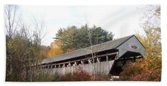 Porter Covered Bridge Beach Towel by Catherine Gagne