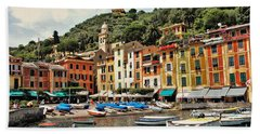 Beach Sheet featuring the photograph Portofino Harbor 2 by Allen Beatty