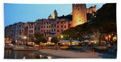Portovenere At Night Beach Sheet