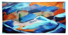 Portrait Of A Figure Beach Towel by Helena Wierzbicki