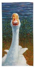 Portrait Of A Goose Beach Towel