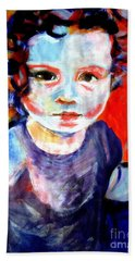 Portrait Of A Little Girl Beach Towel