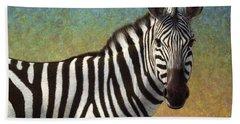 Portrait Of A Zebra Beach Towel